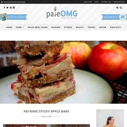 No-Bake Sticky Apple Bars - PaleOMG.com