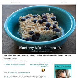Baked Blueberry Oatmeal (E)