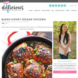 Baked Honey Sesame Chicken