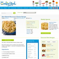 Best Baked Macaroni Cheese Recipe