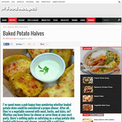 Baked Potato Halves