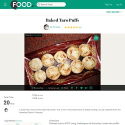 Baked Taro Puffs Recipe