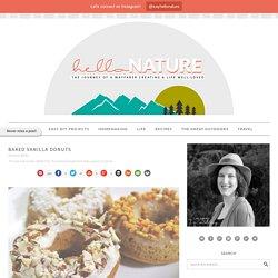 Baked Vanilla Donuts - Hello Nature