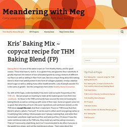 Kris' Baking Mix ~ copycat recipe for THM Baking Blend (FP)