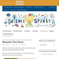 Baking Soda Experiment - Monster Tea Party