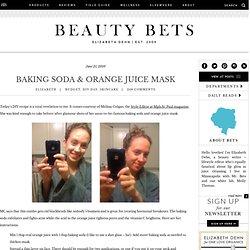 DIY Recipe: Baking Soda and Orange Juice Face Mask