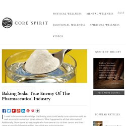Baking Soda: True Enemy Of The Pharmaceutical Industry