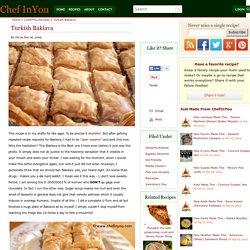 Greek/Turkish Recipes