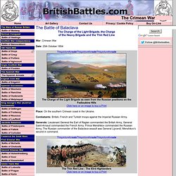 The Battle of Balaclava - Crimean War - Charge of the Light Brig
