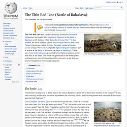 The Thin Red Line (Battle of Balaclava)