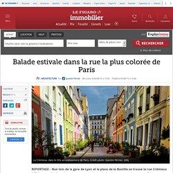 Balade estivale dans la rue la plus colorée de Paris