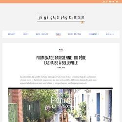 Balade à Paris : autour de Belleville