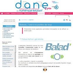 Balado, l'oral à la portée de tous - [DANE de Lyon]