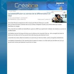 La baladodiffusion au service de la différenciation en CE2