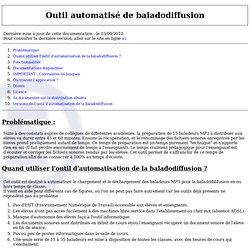 Baladodiffusion: aide