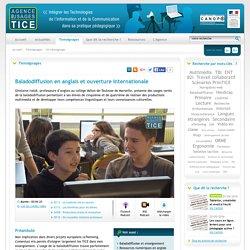#Baladodiffusion en #anglais et ouverture internationale #collège