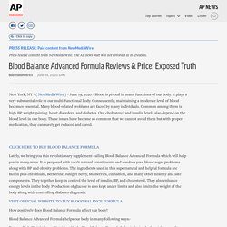 Blood Balance Advanced Formula Reviews & Price: Exposed Truth