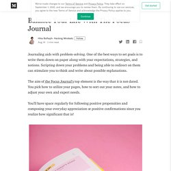 Balance Your Life With The Focus Journal