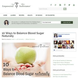10 Ways to Balance Blood Sugar Naturally