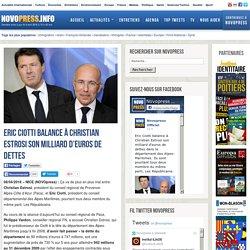 Eric Ciotti balance à Christian Estrosi son milliard d'euros de dettes