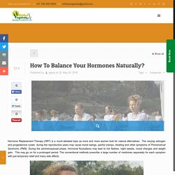 How To Balance Your Hormones Naturally?