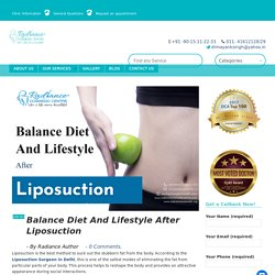 Balance Diet And Lifestyle After Liposuction