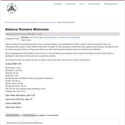 balance Romaine motorisée