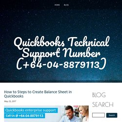 How to Steps to Create Balance Sheet in Quickbooks