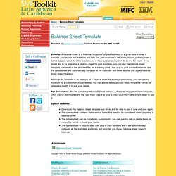 Balance Sheet Template | SME Toolkit Latin America