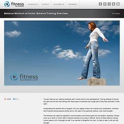 Balance Workout at Home: Balance Training Exercises