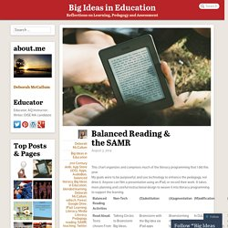 Balanced Reading & the SAMR