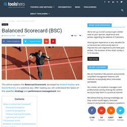 Balanced Scorecard model by Kaplan and Norton