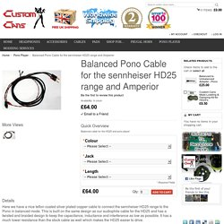 Balanced Pono Cable for the sennheiser HD25 range and Amperior