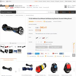 TG Q3 4400mah Dual Wheels Self Balancing Electric Scooter Drifting Board Sale - Banggood Mobile