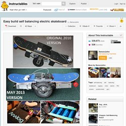 Easy build self balancing electric skateboard