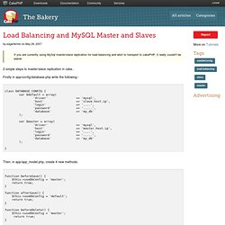 Load Balancing and MySQL Master and Slaves (Articles) | The Bake