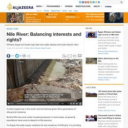 Nile River: Balancing interests and rights?