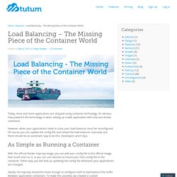 Load Balancing – The Missing Piece of the Container World