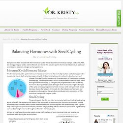 Balancing Hormones with Seed Cycling, Dr. Kristy, Naturopathic Doctor | Dr. Kristy, Naturopathic Doctor