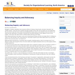 Balancing Inquiry and Advocacy