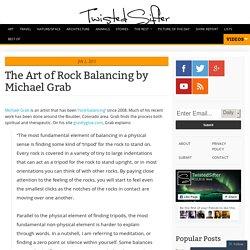 Pierres en équilibre - Michael Grab