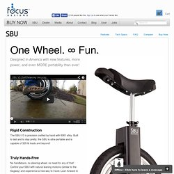 SBU V3 | Self-Balancing Unicycle | Focus Designs, Inc.