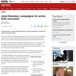Janet Balaskas: campaigner for active birth movement