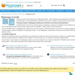 Balayage humide - balais et gazes a usage unique - Hypronet