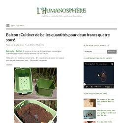 Balcon : Cultiver de belles quantités pour deux francs quatre sous!