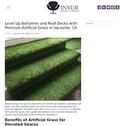 Upgrade Balconies and Roof Decks with Artificial Grass in Vacaville, CA
