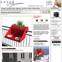 Table balcon BALKONZEPT par rephorm - Cosmoligne.com
