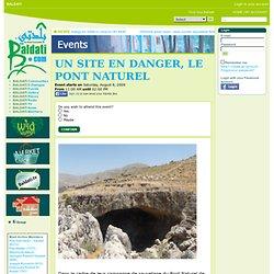 Events - Un site en danger, le Pont Naturel