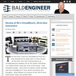 Baldengineer's Review of NI's VirtualBench