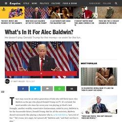 Why Alec Baldwin Plays Donald Trump on 'Saturday Night Live'